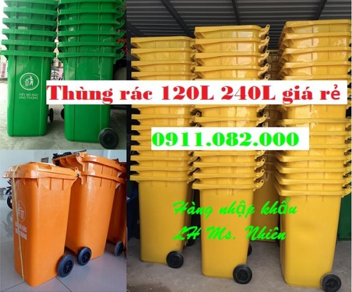 Chuyên bán thùng rác y tế, thùng rác nhựa 120L 240L giá rẻ- lh 0911.082.0000