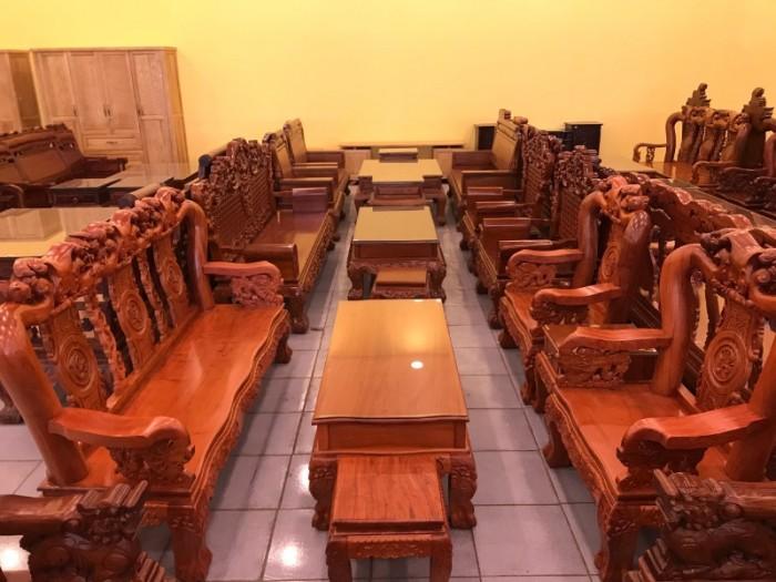 Bộ Bàn Ghế Chạm Đào - Tựa Chạm Phúc Lộc Thọ Mẫu Mới Nhất2