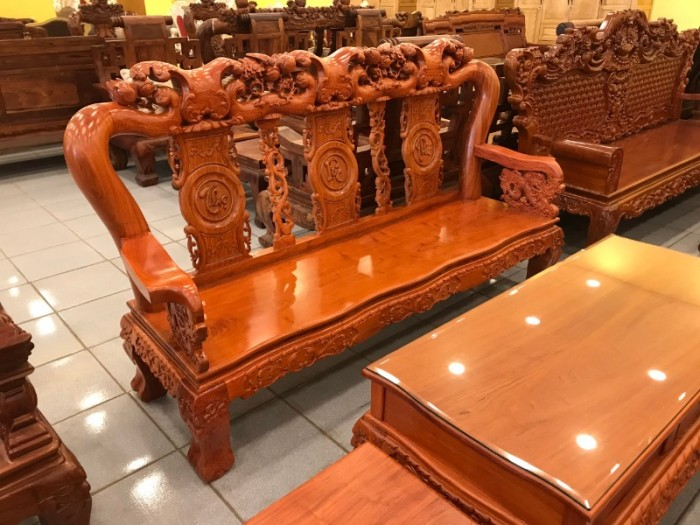 Bộ Bàn Ghế Chạm Đào - Tựa Chạm Phúc Lộc Thọ Mẫu Mới Nhất6