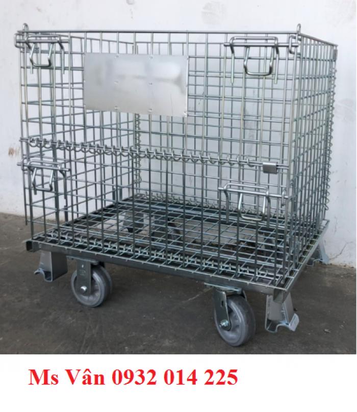 Cơ khí - Máy móc Thiết bị sản xuất Lồng sắt có bánh xe0