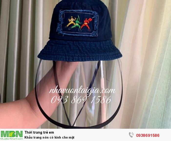 Khẩu trang nón có kính che mặt0