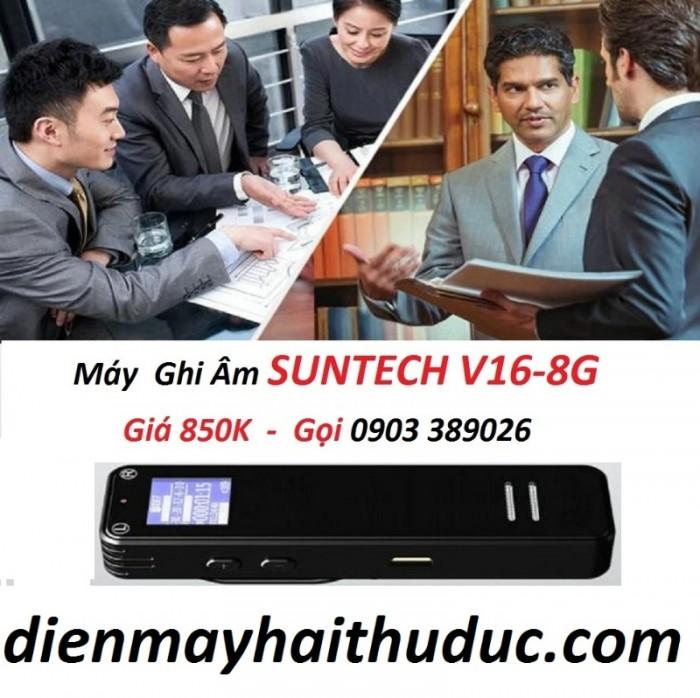 Máy ghi âm Suntech V16-8G Ghi âm chuyên nghiệp siêu lọc âm tốt, loa to, nghe rõ. 1