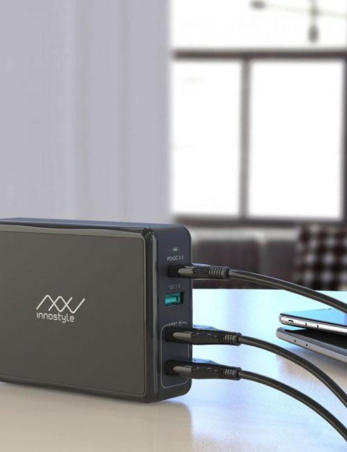 Thông tin kỹ thuật – Tổng công suất: 80W – Công nghệ: Cung cấp năng lượng sạc nhanh chuẩn PD & công nghệ Smart AI – Đầu vào: AC100-240V 50/60Hz 1.6A tối đa – Đầu ra PD: 5V/2.4A, 9V/3A, 12V/3A, 15V/3A, 20V/3.25A –Đầu ra USB A Quick Charge (QC3.0): 3.6V-6.5V/3A, 6.5V-9V/2A, 9V-12V/1.5A – Đầu ra USB A Smart AI: 5V/2.4A trên 2 cổng – Loại phích cắm: phích cắm Hoa Kỳ, thiết kế có thể gập lại – Với bảo vệ quá dòng, quá điện áp, ngắn mạch và quá nhiệt – Màu sắc: Trắng, Đen Bảo Hành : 2 Năm 1 Đổi 14