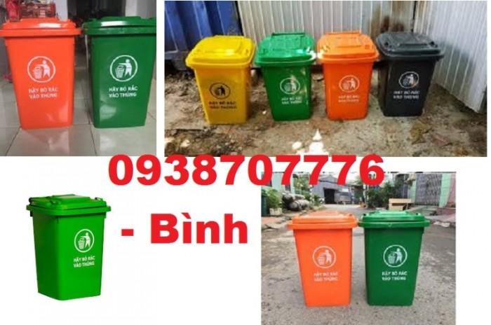 Thùng rác 60l, Thùng rác công cộng, Thùng rác nhiều màu, Thùng rác làm từ nhựa HDPE chất lượng cao ( không bánh xe )0