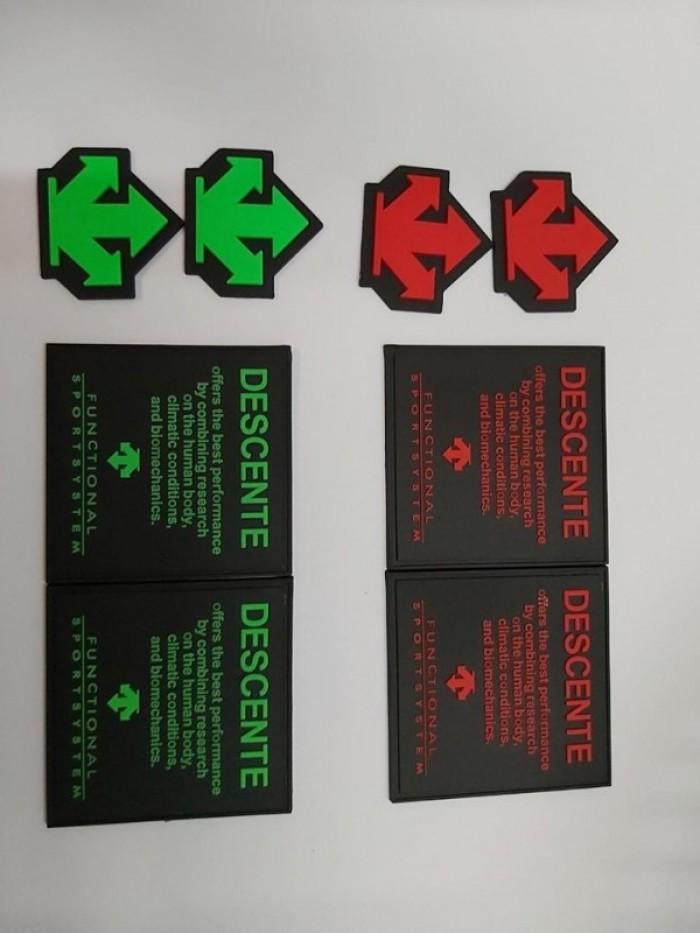 Sản xuất các loại logo nhựa, pvc, rubber dập chữ nổi3