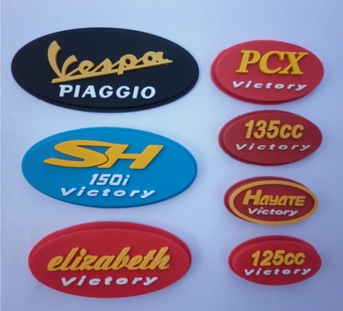 Sản xuất các loại logo nhựa, pvc, rubber dập chữ nổi