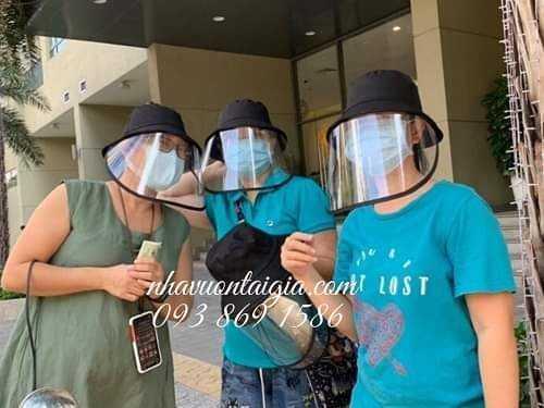 Khẩu trang mũ kính che mặt kháng khuẩn4