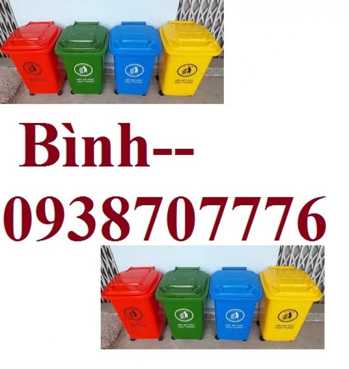 Thùng rác 60l, Thùng rác công cộng, Thùng rác nhiều màu, Thùng rác làm từ nhựa HDPE chất lượng cao ( không bánh xe )1