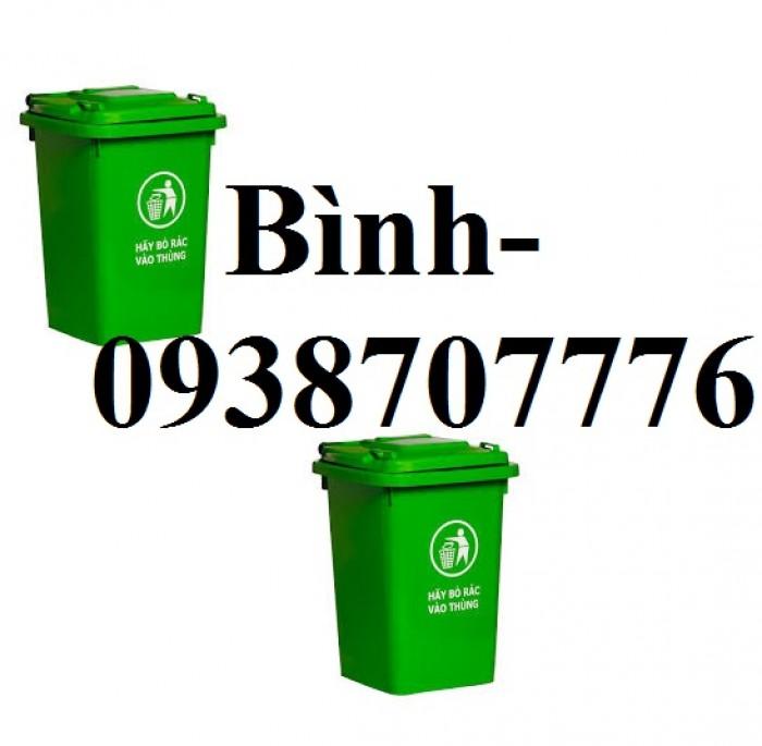 Thùng rác 60l, Thùng rác công cộng, Thùng rác nhiều màu, Thùng rác làm từ nhựa HDPE chất lượng cao ( không bánh xe )2