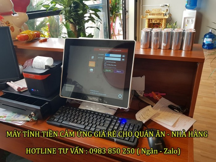 Máy tính tiền cảm ứng cho Nhà hàng - Quán ăn tại Bắc Giang - Bắc Ninh- Ninh Bình0
