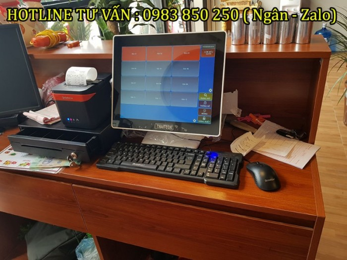 Máy tính tiền cảm ứng cho Nhà hàng - Quán ăn tại Bắc Giang - Bắc Ninh- Ninh Bình1