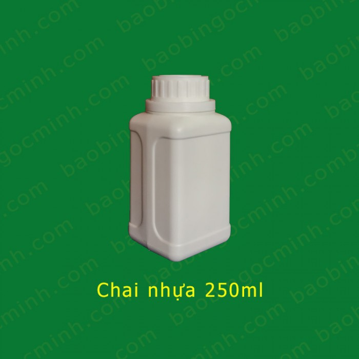 Chai nhựa vuông 250ml 5