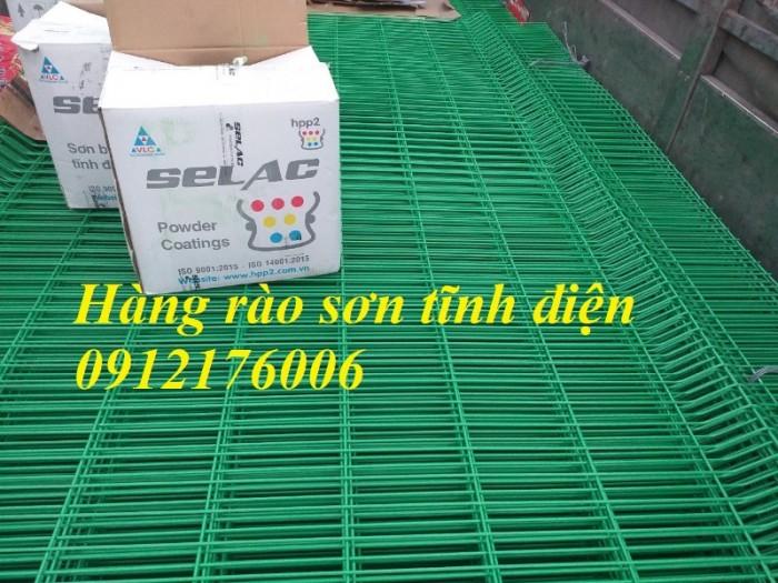 Hàng rào lưới thép hàn D5 a 50x150, 50x200 mạ kẽm sơn tĩnh điện.6