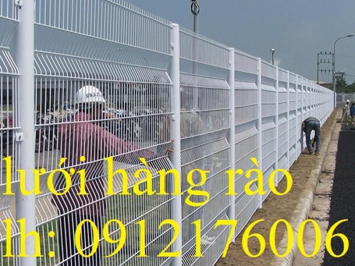 Hàng rào lưới thép hàn D5 a 50x150, 50x200 mạ kẽm sơn tĩnh điện.8