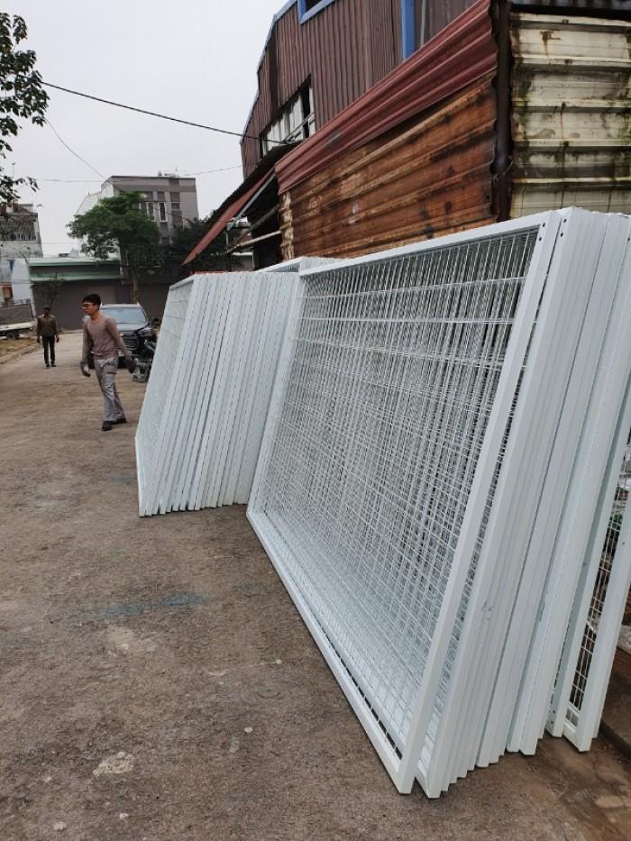 Hàng rào lưới thép hàn D5 a 50x150, 50x200 mạ kẽm sơn tĩnh điện.13