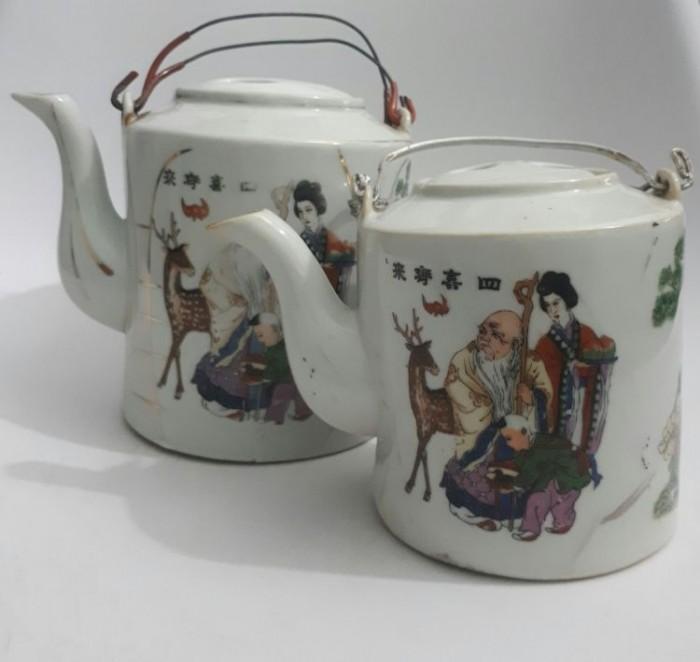 cặp bình trà Nhật xưa lành tích0