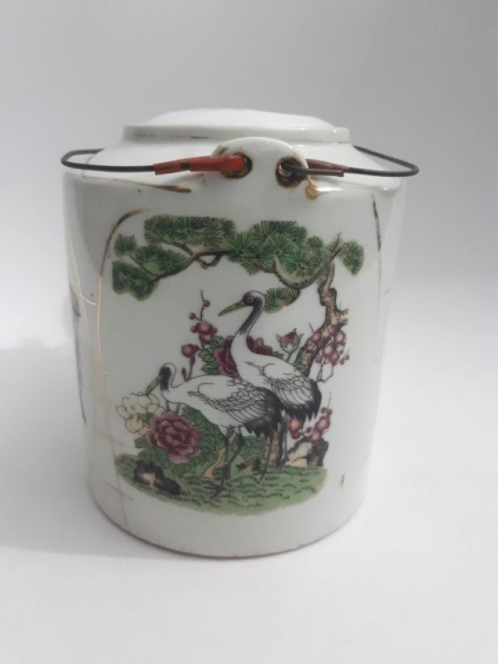 cặp bình trà Nhật xưa lành tích7