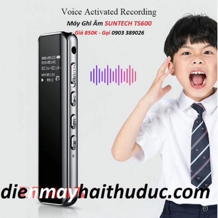 Máy ghi âm Suntech TS600-8G Máy được thiết kế mỏng đẹp, hiện đại, ấn tượng 0