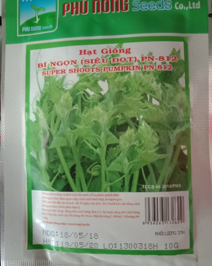 Hạt giống bí siêu ngọn Phú Nông1