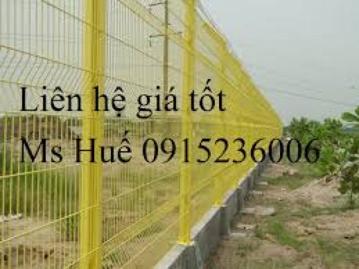 Lưới thép hàng rào phi 5 ô 50 x100 mạ kẽm sơn tĩnh điện gập tam giác hai đầu0