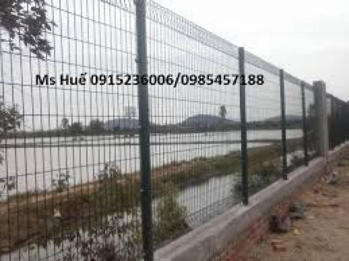 Lưới thép hàng rào phi 5 ô 50 x100 mạ kẽm sơn tĩnh điện gập tam giác hai đầu1