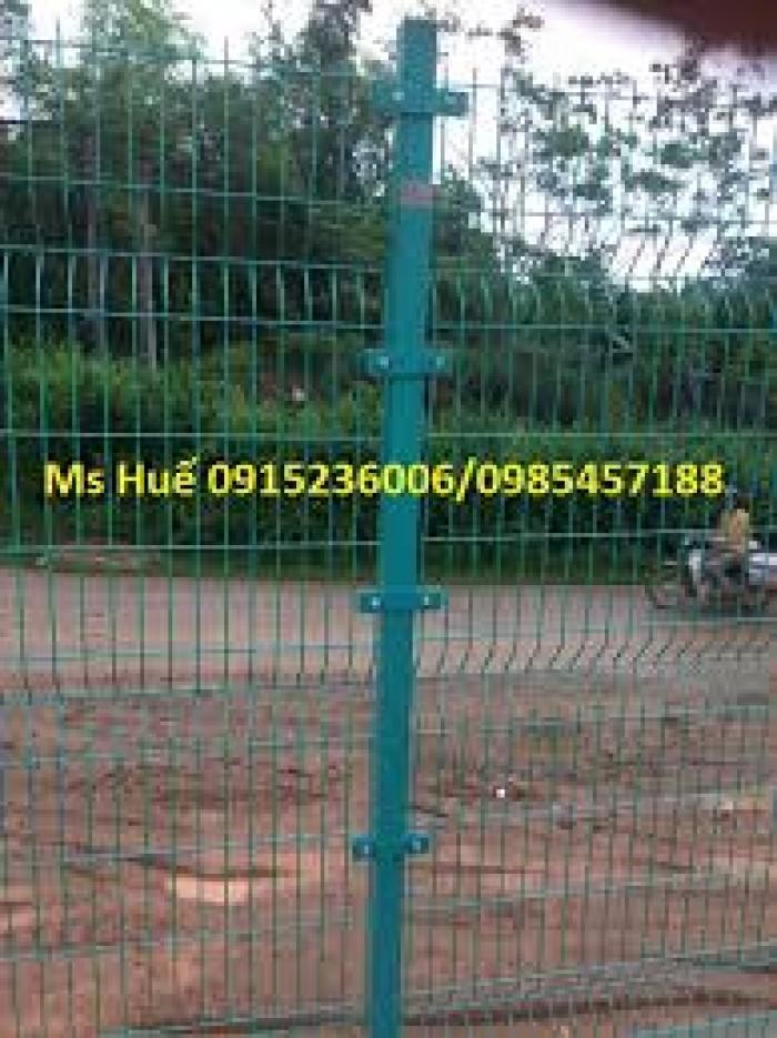 Hàng rào lưới thép phi 5 ô 50x200 mạ kẽm sơn tĩnh điện, nhúng nhựa pvc2