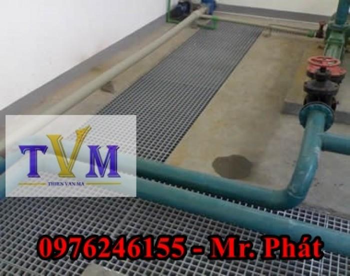 Tấm sàn lót FRP Grating Sợi thủy tinh nhà máy, công ty, sân vườn ....10