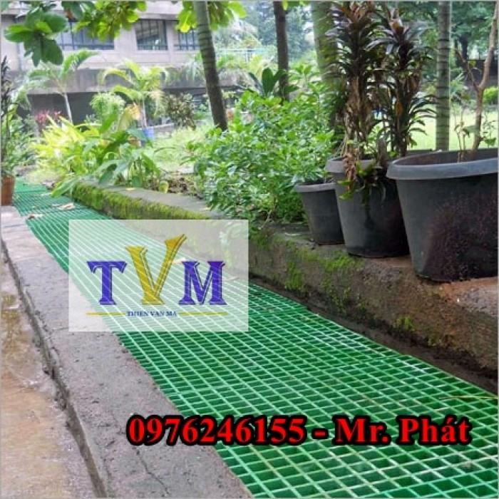 Tấm sàn lót FRP Grating Sợi thủy tinh nhà máy, công ty, sân vườn ....11