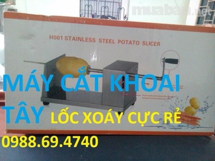 Máy cắt khoai tây lốc xoáy inox h0012