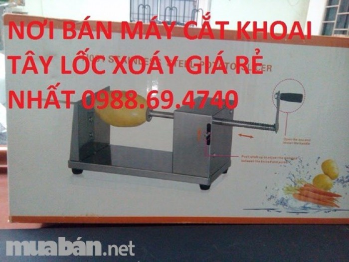 Máy cắt khoai tây lốc xoáy inox h0013