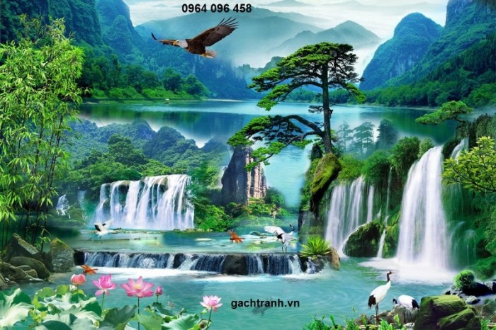 tranh gạch men 3d HK986