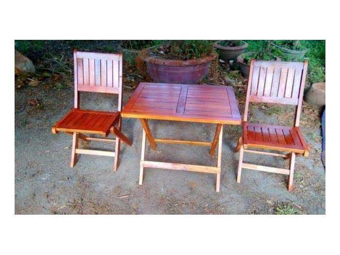 Thanh lý bộ bàn ghế xếp gỗ giá rẻ.2