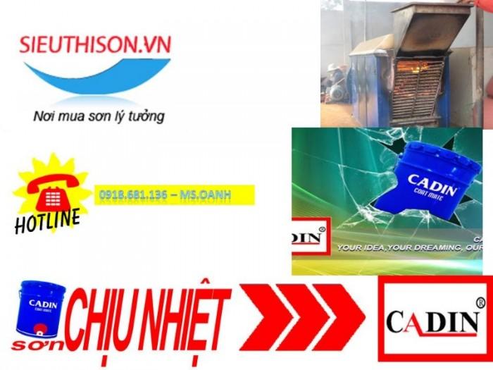 Cần tìm đại lý bán sơn chịu nhiệt CADIN 600 độ cho máy móc chịu nhiệt0