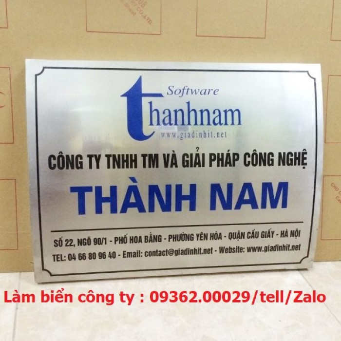 Biển Công ty làm theo yêu cầu tại Hà Nội19