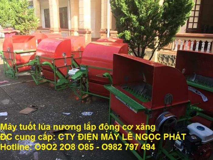 Nơi bán Máy tuốt lúa mini khung sắt lắp động cơ xăng LNP2020 rẻ1