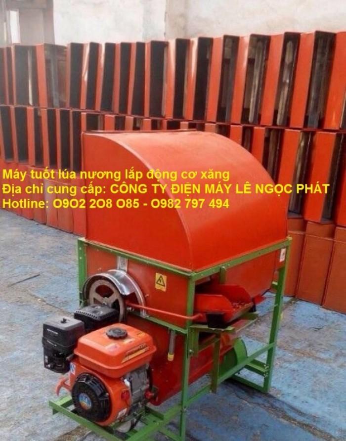Nơi bán Máy tuốt lúa mini khung sắt lắp động cơ xăng LNP2020 rẻ3