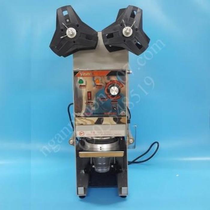 Máy dập nắp, dán miệng ly/cốc bán tự động WY680 350W5