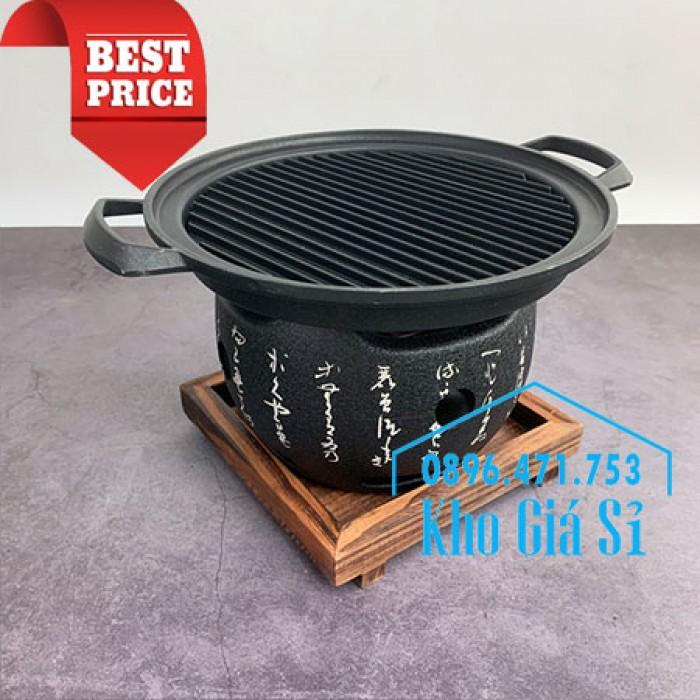 Bếp nướng gang kiểu Nhật - Lò nướng Nhật Bản - Bếp nướng than bằng gang kiểu Nhật HCM20