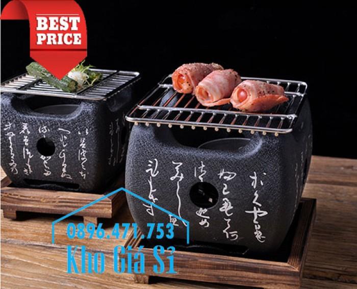 Bếp nướng gang kiểu Nhật - Lò nướng Nhật Bản - Bếp nướng than bằng gang kiểu Nhật HCM19