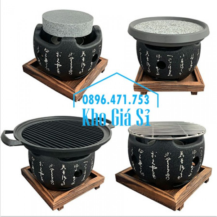 Bếp nướng kiểu Nhật hình tròn - Lò nướng kiểu Nhật Bản hình tròn bằng gang đúc giá tốt tại HCM0