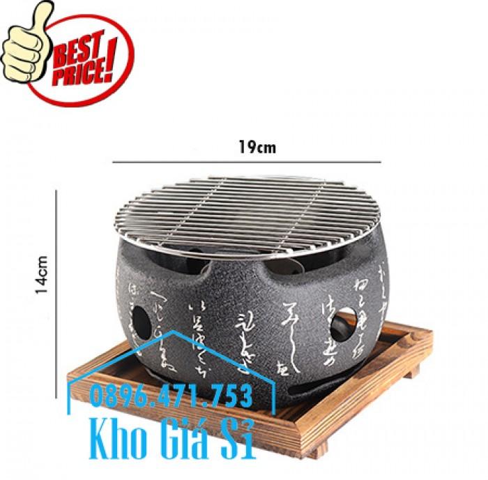 Bếp nướng kiểu Nhật hình tròn - Lò nướng kiểu Nhật Bản hình tròn bằng gang đúc giá tốt tại HCM10