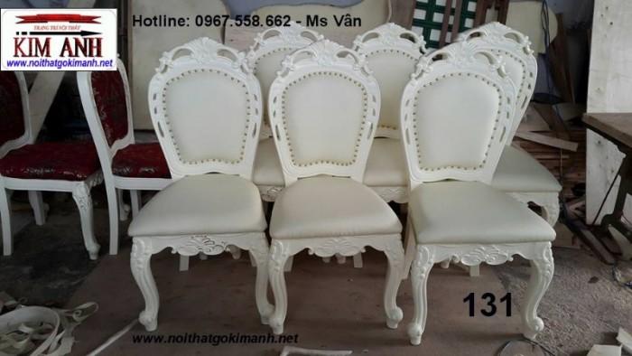 mẫu ghế ăn tân cổ điển đẹp màu trắng 3