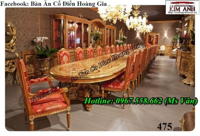 bàn ăn 10 ghế tân cổ điển13