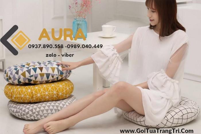 Nệm ngồi hình tròn giá sỉ - Đệm ngồi Aura7