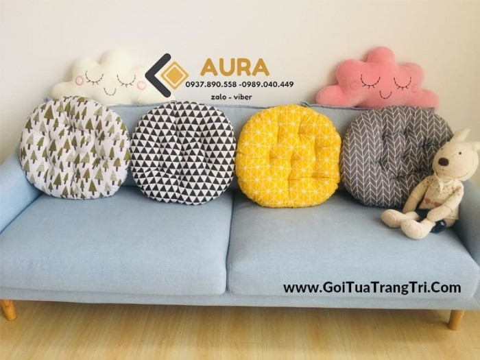 Nệm ngồi hình tròn giá sỉ - Đệm ngồi Aura1