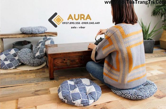 Nệm ngồi hình tròn giá sỉ - Đệm ngồi Aura17