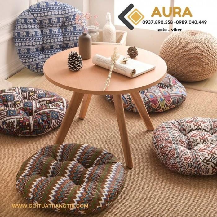 Nệm ngồi hình tròn giá sỉ - Đệm ngồi Aura19