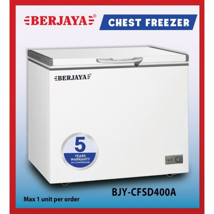 TỦ ĐÔNG BERJAYA 290 LÍT BJY-CFSD400A R134A0