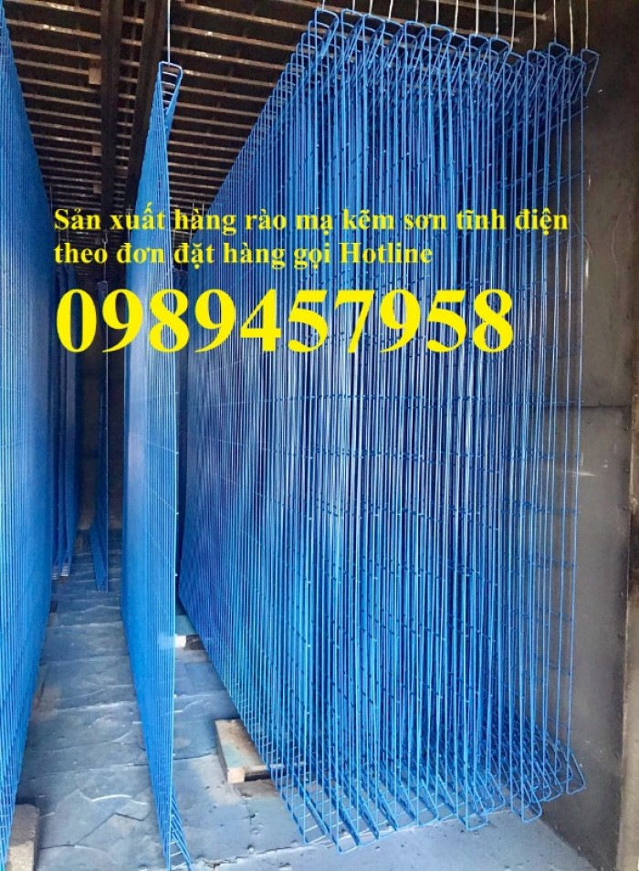 Gia công Hàng rào mạ kẽm sơn tĩnh điện phi 5, Lưới hàng rào nhà xưởng, Hàng rào nhà xe5