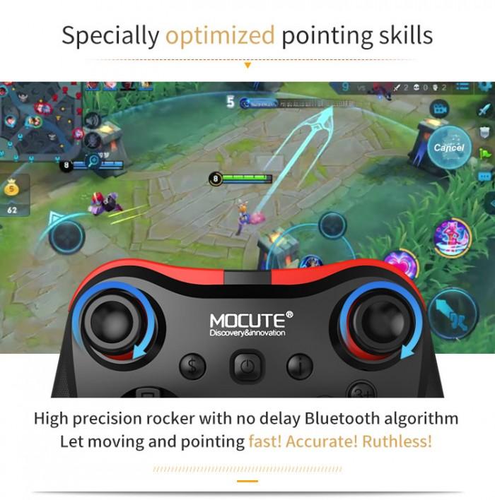 Tay cầm chơi game bluetooth Mocute 056 cho ios android hỗ trợ liên quân2